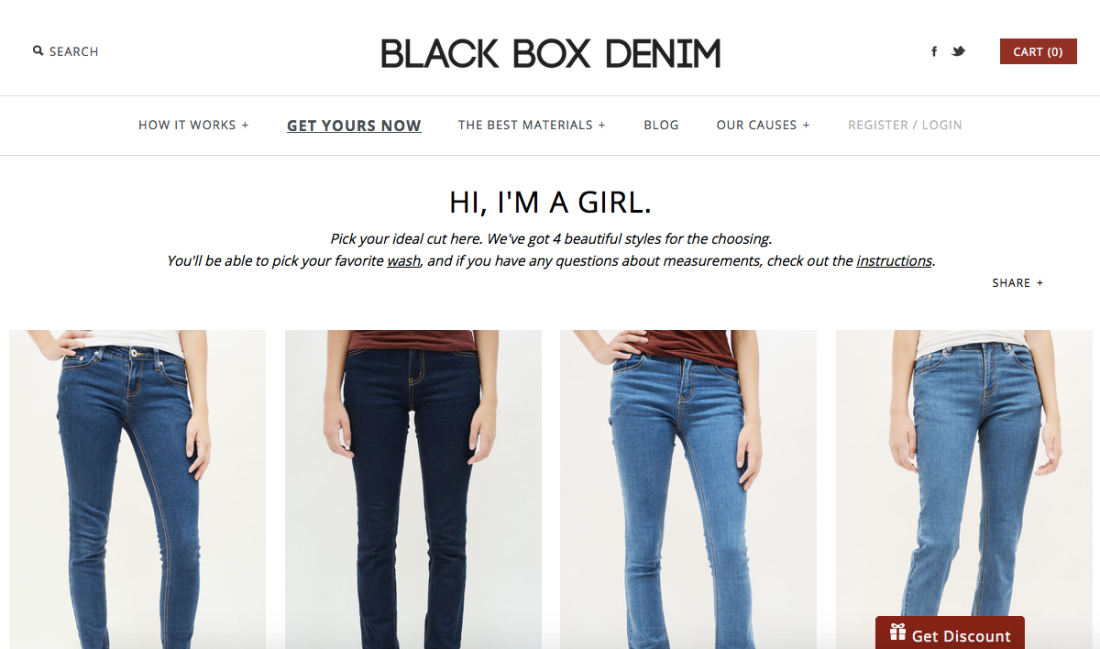 Black Box Denim Choices