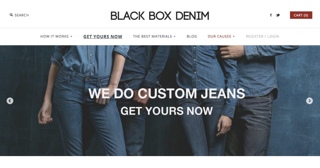Black Box Denim Website